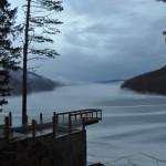 iarna pe lacul Valiug